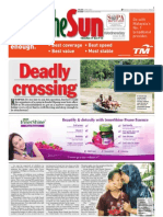 thesun 2009-10-28 page01 deadly crossing
