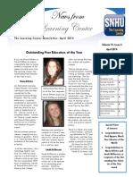 Learning Center Newsletter 2 Spring 2014