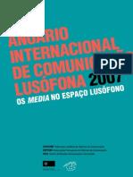 Anuário Da Comunicação Lusófona 2007