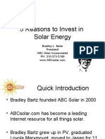 5 Reasons to Invest in Solar Energy