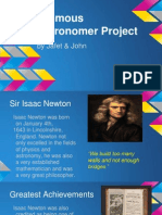 famous astronomer project