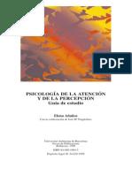Psicología de La Atención y de La Percepción (Guía de Estudio) - Elena Añaños