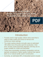 investigatin of role of binder n clay in moulding sand