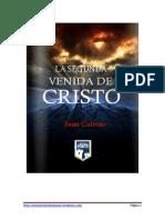 La Segunda Venida de Cristo Calvino PDF