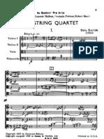 Bartok - String Quartet No.4