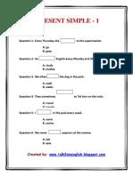 Present Simple Quiz - Positive Sentences
