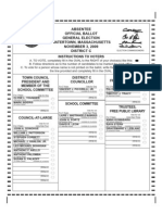 Ballot for Watertown election 2009 -- District C