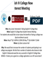 140423 College Now Interest Meeting- English IV