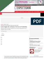 Los riesgos de reclamar tierras | ELESPECTADOR.COM