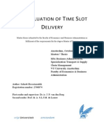 The Valuation of Time Slot Delivery 2013