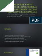 Tamsulosina Para El Manejo de Litiasis Ureteral Distal