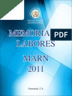 Memoria de Labores 2011