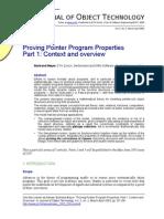 Proving Pointer Program Properties. Part 1