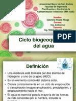 Ciclo Biogeoquímico Del Agua