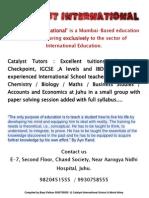 IGCSE Mathematics Formula Booklet