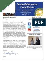 Senator Melisa Franzen Capitol Update (Volume 2, Number 7)