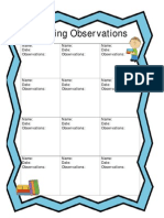 reading observations