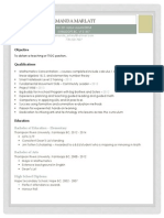 teaching resume weebly