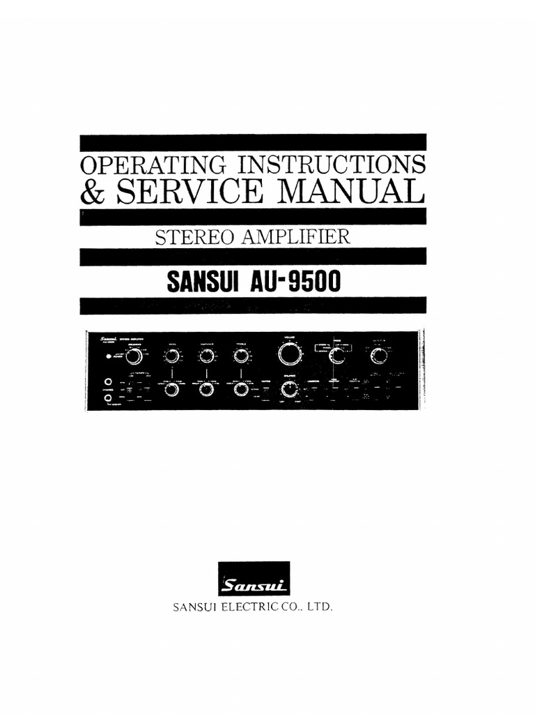 Download the sansui au-9500 manuals for free hifi manuals.