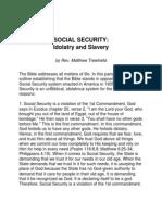 Social Security- Idolatry & Slavery
