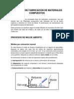 Procesos de Fabricacion de Materiales Compuestos