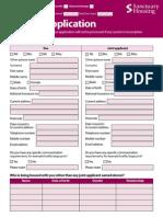 Sanctuary Housing Transfer Application Form