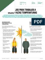 Consejos Para Trabajos a Bajas y Altas Temperaturas