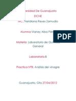 Práctica 9analisis Del Vinagre
