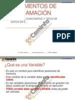 Variables Constantes y Tipos de Datos 120201204048 Phpapp01
