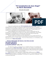 Tributo a ´El Cumpleaños de Juan Ángel´, de Mario Benedetti