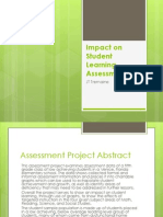 jt tremaine - impact on student learning assessment project