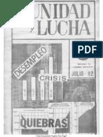 Unidad y Lucha 059 Julio 1982