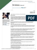 Boletín Fiscal-Efectos Fiscales en Territorio Nacional Por Los Pagos a Residentes en El Extranjero Por Servicios