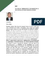 Peña y Diputados Violan Constitución en Ref Telecom