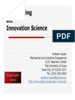 Data Mining and Innovation Science, Kusiak