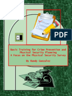 Basic Training for Crime Prevention & Physical SecurityPlanning