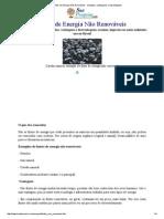 Fontes de Energia Não Renováveis - Exemplos, Vantangens e Desvantagens