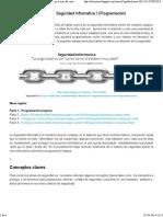Seguridad Informatica I (Programación)