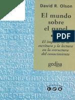 Olson - Lo Que La Escritura Representa