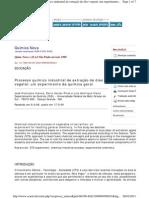 Processo Quimico Industrial Extração de Oleo