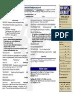 April 27, 2014 Worship Bulletin