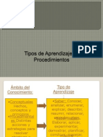 PPT Tipos de Aprendizajes y Procedimientos Util Para Semana 3