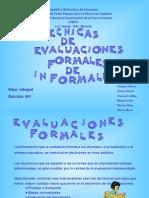 Técnicas de Evaluación Formales e Informales, S-601