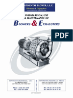 Continental BLOWER IO&M Manual 2009