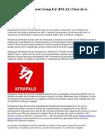 Perjudicial Investment Group Ltd (DVI.AX) Clave de la Evolución