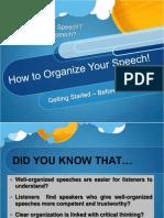 Organizing Speech