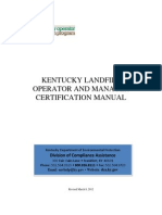 Landfill Operator and Manager Certification Manual - Final Revised 030812