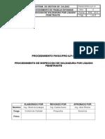 Proc. de Inspeccion Por Liquido Penetrante