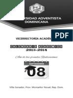 Calendario Académico 2013-2014