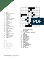 Crossword - May 22 2005